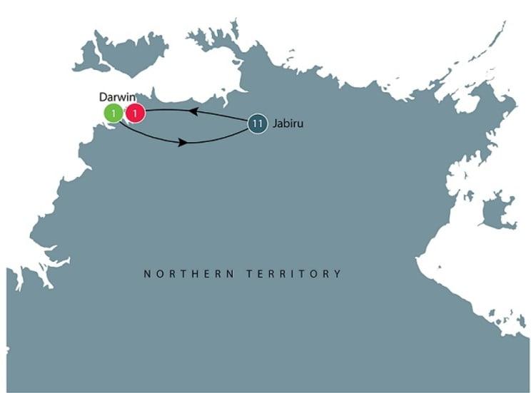 Darwin and Kakadu small group tour itinerary