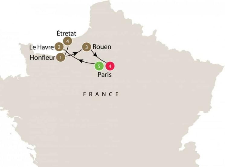 Following Monet itinerary
