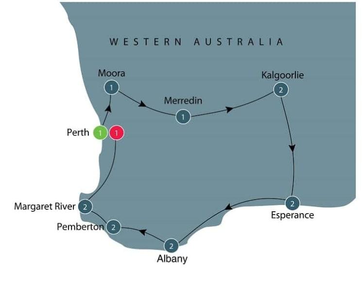 Wildflowers tour of Western Australia itinerary