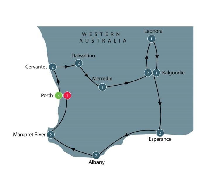 Western Australia tour itinerary