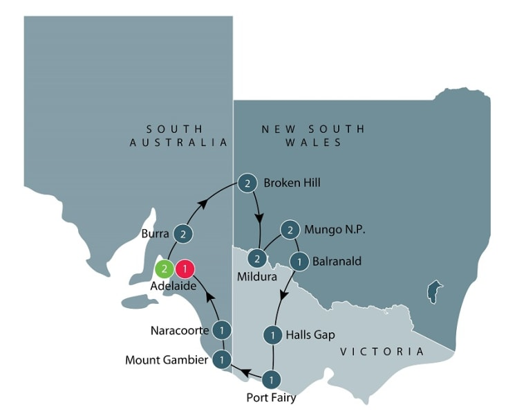 Escorted small group tour of World Heritage sites and more in the Southern States itinerary