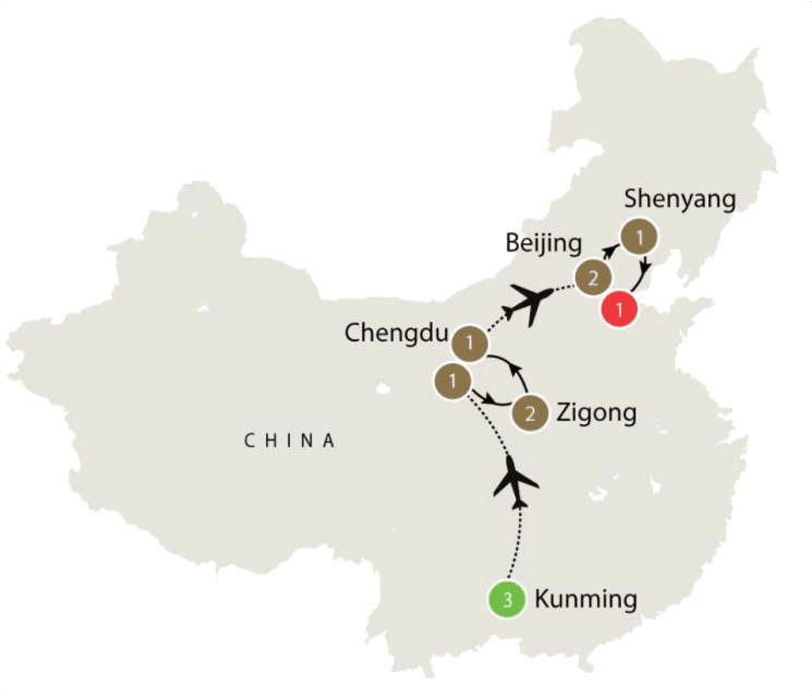 China Dinosaurs small group escorted palaeontology tours itinerary
