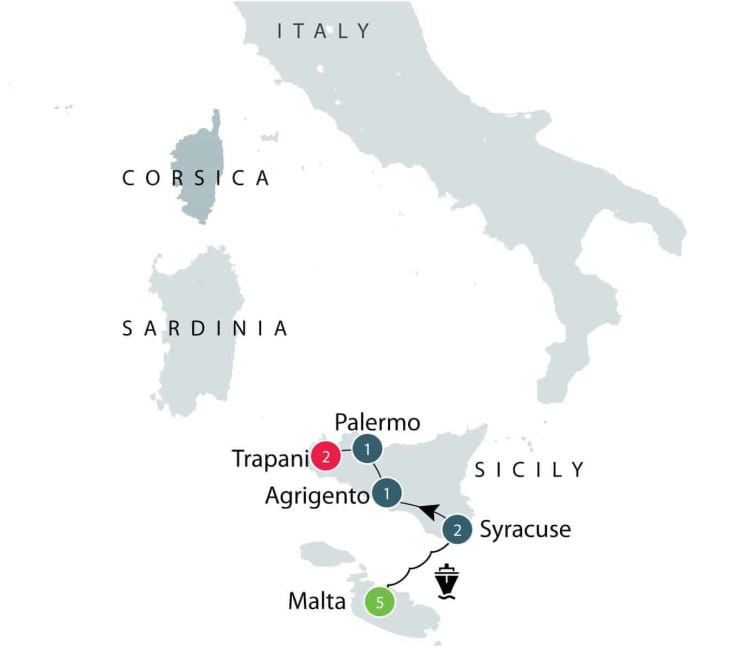 Malta & Sicily - Mediterranean Islands small group tour itinerary