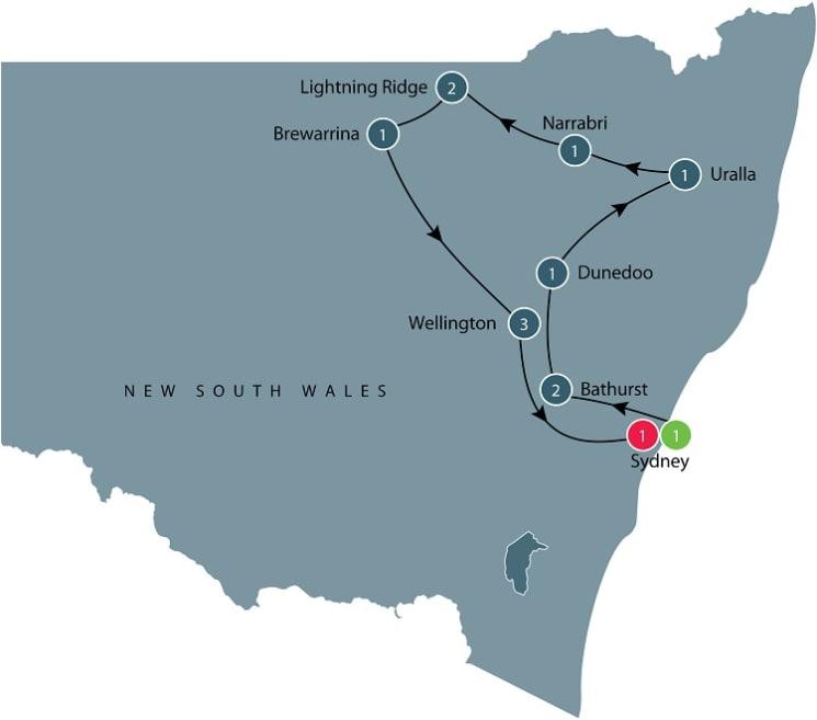Escorted small group tour of Australia's megafauna itinerary