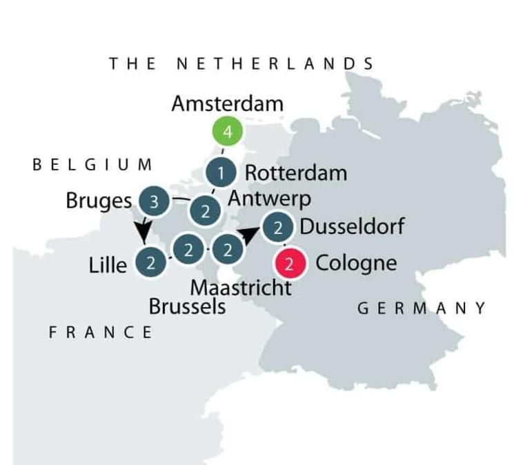Belgium, Netherlands, France, Germany Art Tour | Western Europe Art Tour itinerary