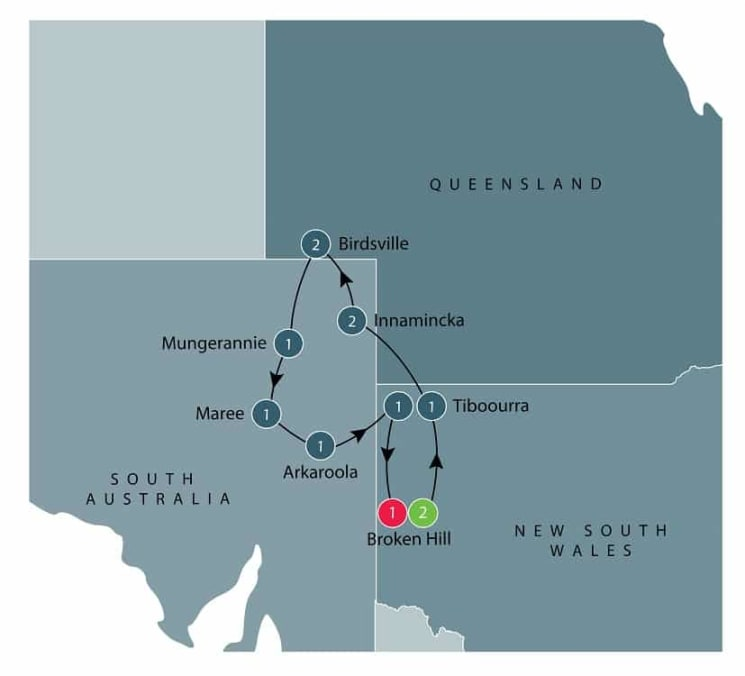 Small group tour; Broken Hill and back itinerary
