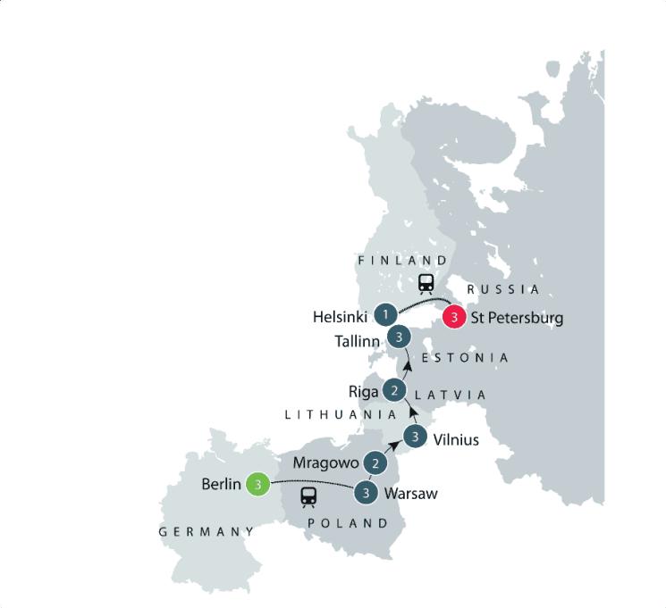 Baltics Small Group Escorted Tour: Latvia, Estonia, Lithuania itinerary