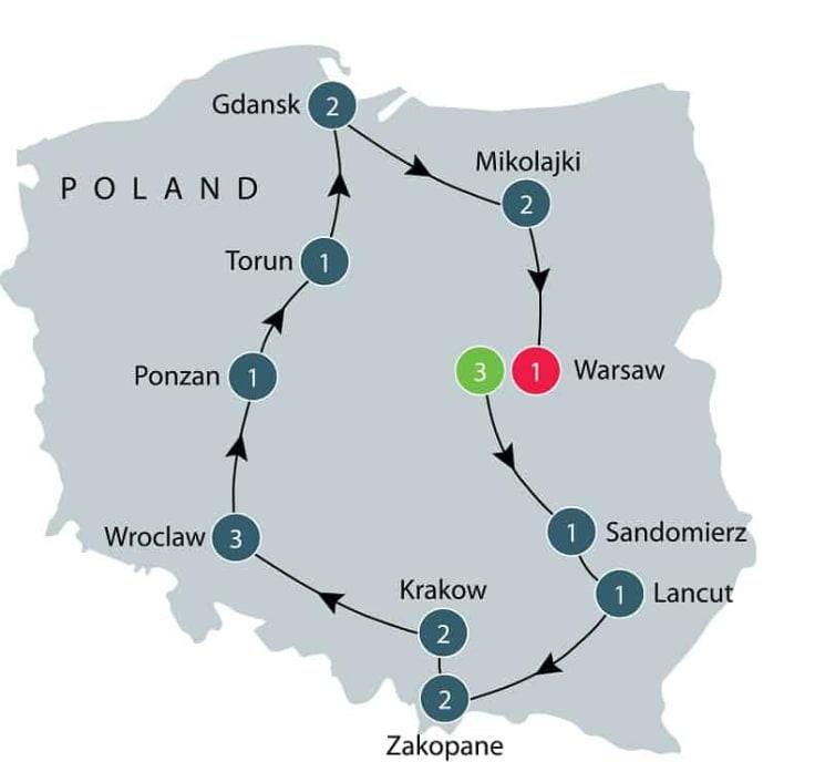 Exploring Poland | Poland Small Group Tour itinerary