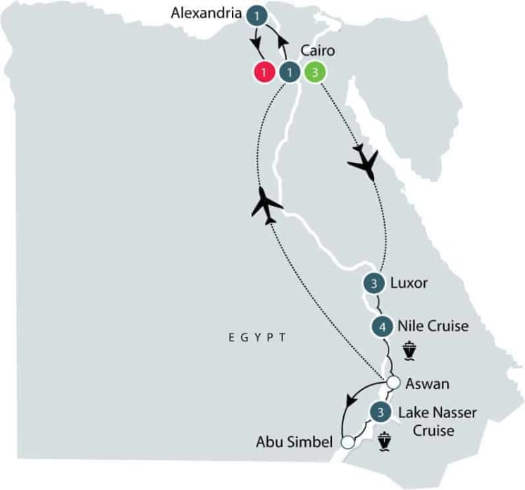 Egypt tour: escorted small group history & cultural tour of Egypt itinerary