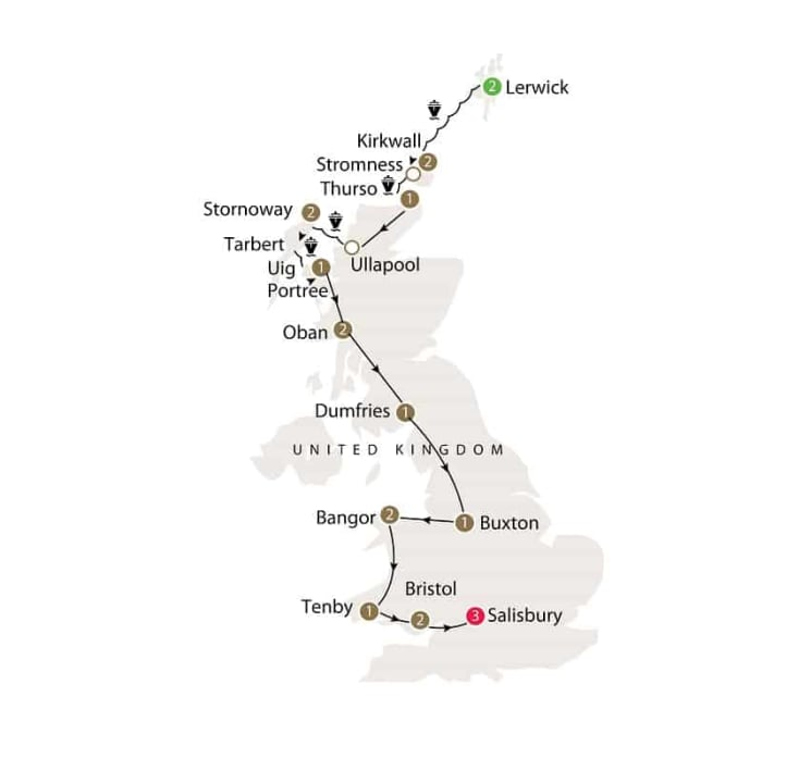 Prehistoric Britain small group history tour including standing stones itinerary
