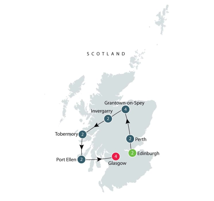 Whisky and Other Scottish Wonders itinerary