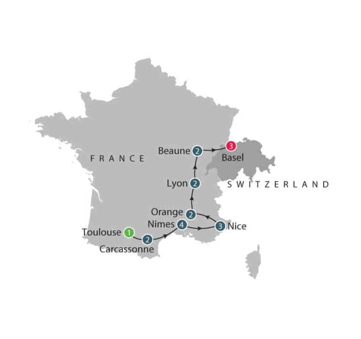 Romans in France small group specialist history tours for seniors itinerary