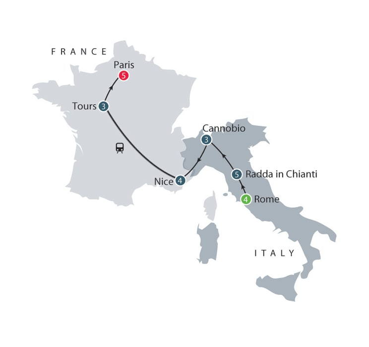 Italy and France, history of gardens small group escorted tour itinerary