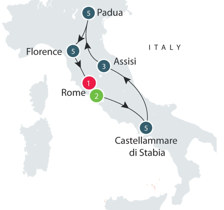 Heritage, Culture and History of Italy   Small Group Tours for Seniors itinerary