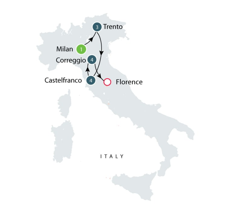 Villages of Italy - short small group tours itinerary