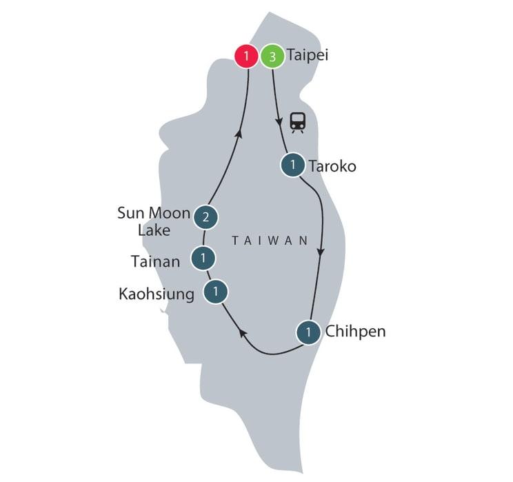 Taiwan Lantern Festival small group tour itinerary