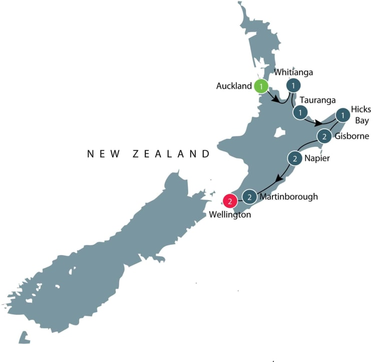 Small group tour of New Zealand's North Island itinerary