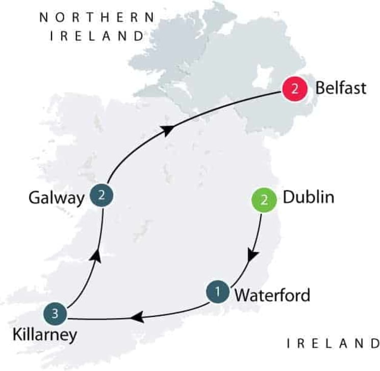 Gardens of Ireland Small Group Tour itinerary