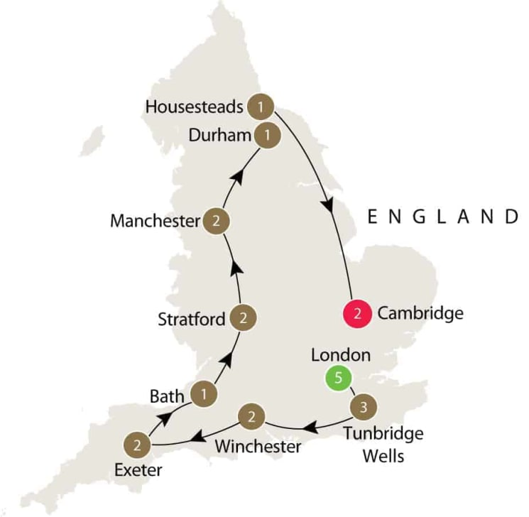 Discovering the art and literature of England: Jane Austen, Shakespeare, and more itinerary