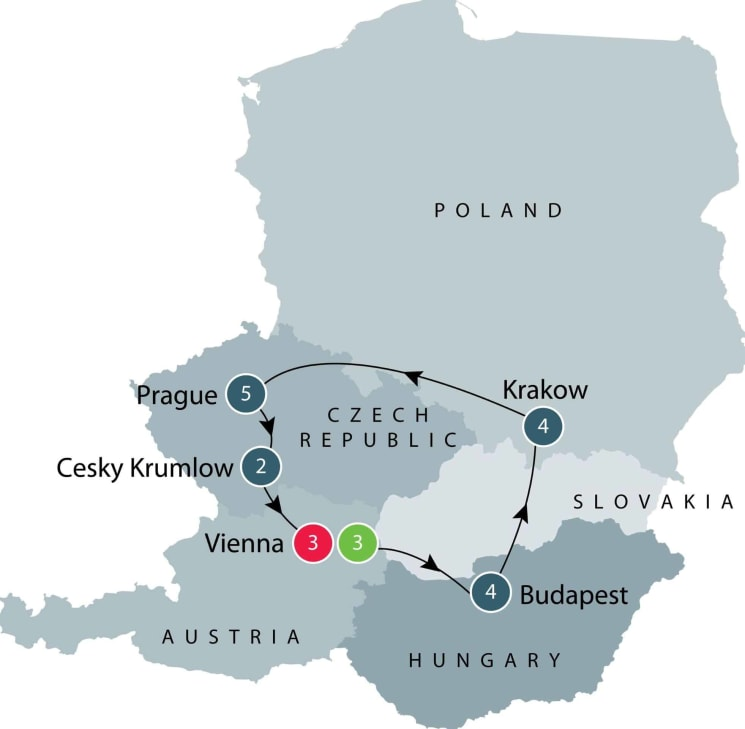Habsburg Art and Classical Music small group Tour itinerary
