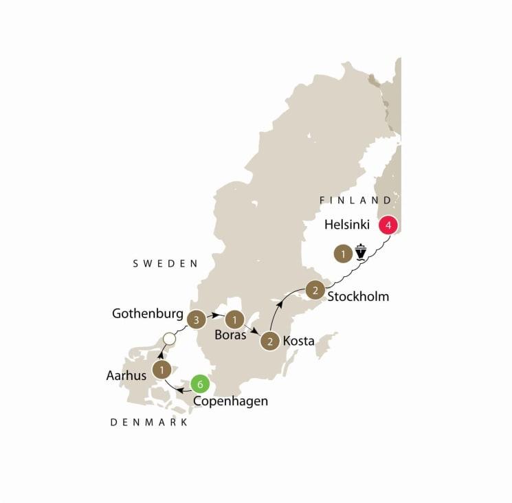 Scandinavian Design Small Group Tour: Denmark, Sweden and Finland itinerary