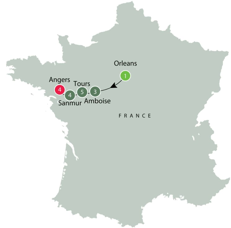 Loire Valley Walking Tours | Small Group Tours of France itinerary