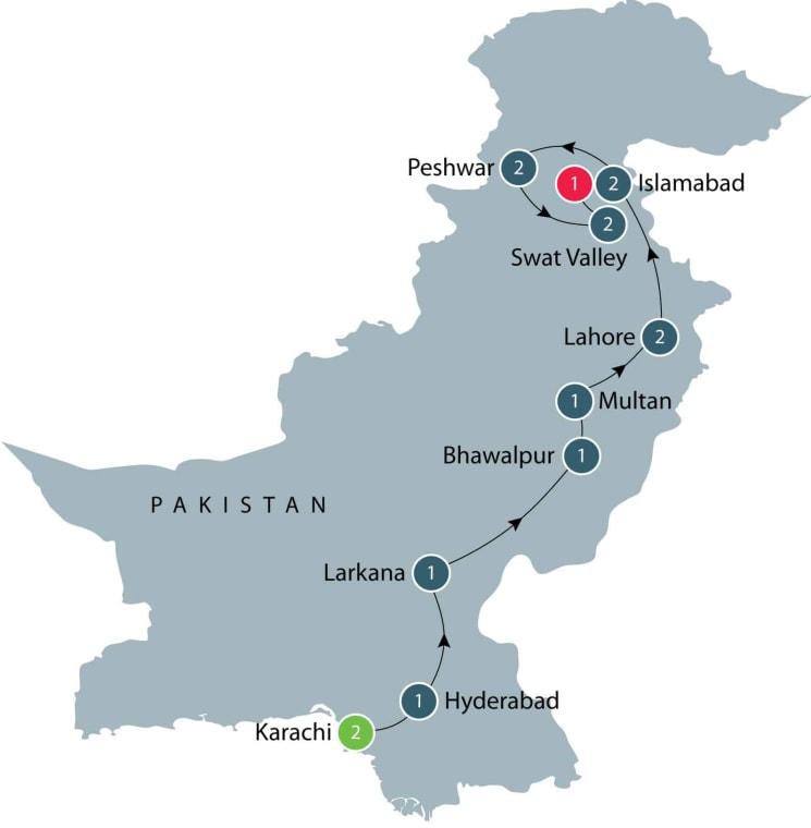 Tour of Pakistan itinerary