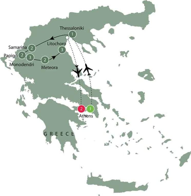 Walking in Greece itinerary