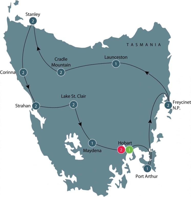 Discovering Tasmania's Wildlife itinerary