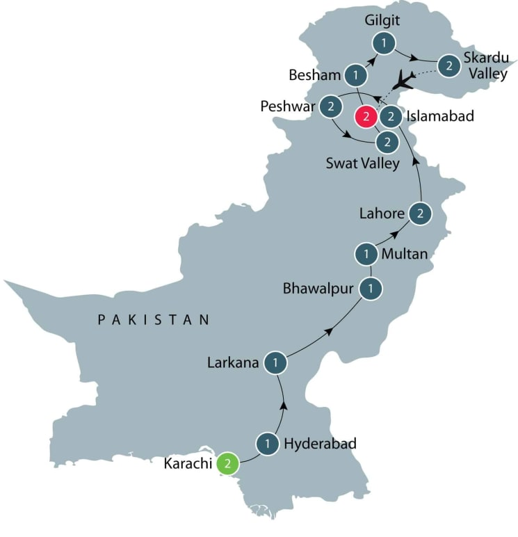 Tour of Pakistan including Skardu Valley itinerary