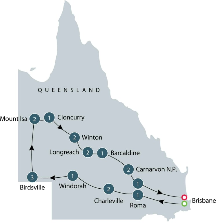 Small group tour of Queensland itinerary