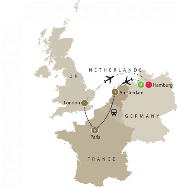 Opera Tour Europe | Theatre-Opera-Ballet and Classical Music Small Group Tour for Seniors itinerary