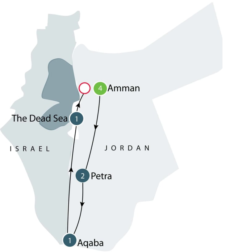 Ancient History of Jordan | Escorted Small Group Tour itinerary