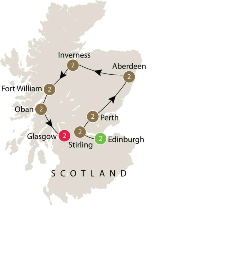 Jacobites, Scottish History small group mature travellers tour itinerary