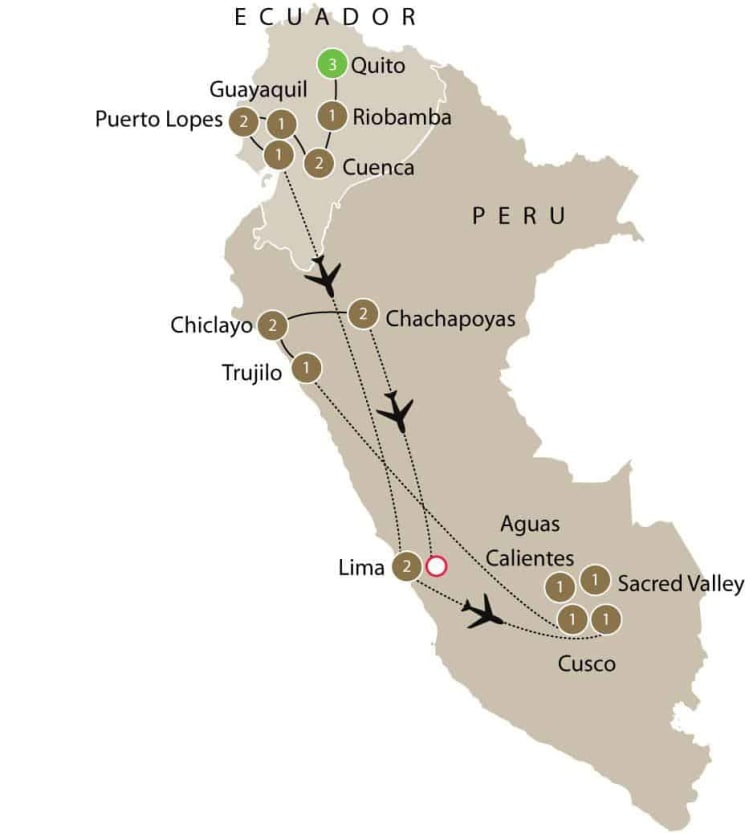 Ecuador and Peru Archaeology tour itinerary