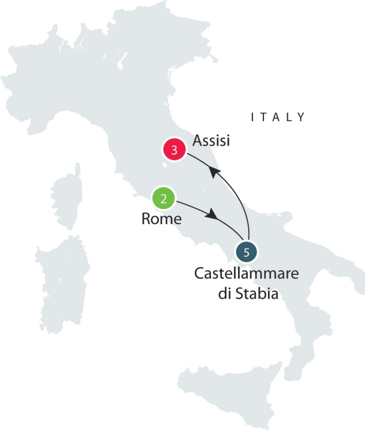 Heritage, culture, history of Italy, seniors small group - Short Tour itinerary