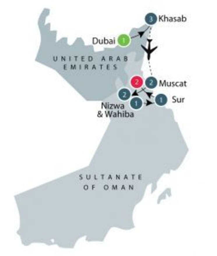 Discover Oman itinerary