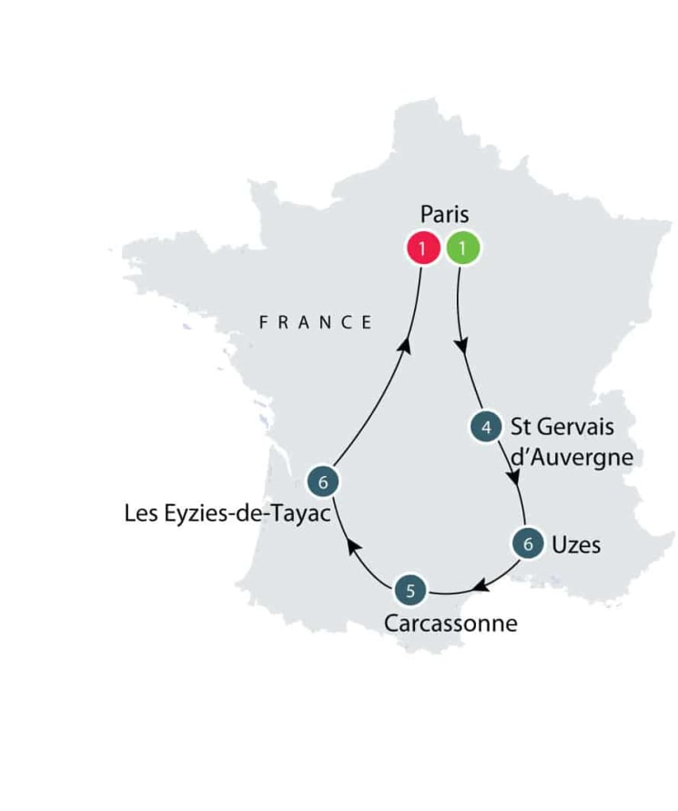 Rural France | Small Group Tour for Seniors itinerary