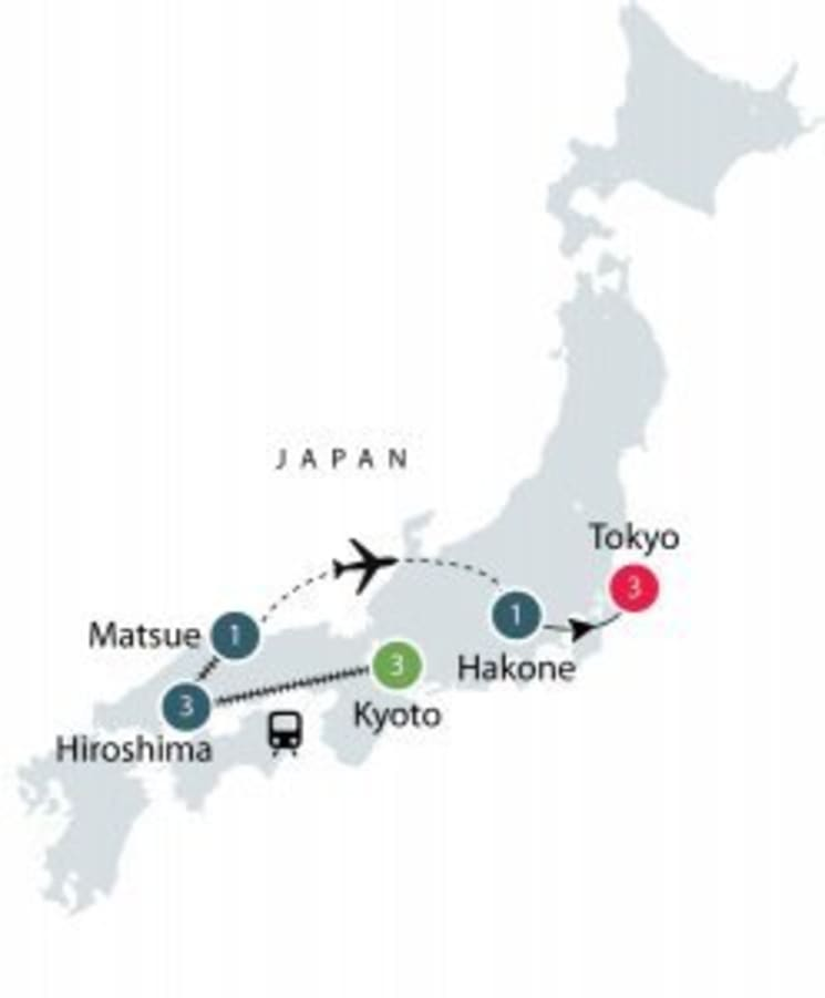 Japan Odyssey - Small Group Tours for Mature Travellers itinerary