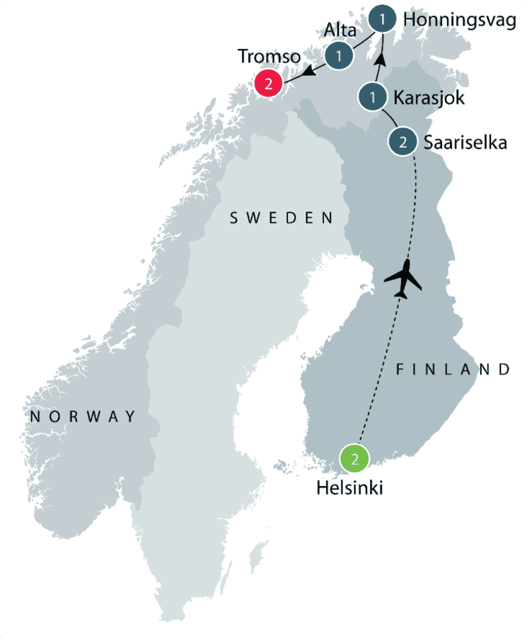 Northern Lights Small Group tour | Visit Norway and Finland itinerary