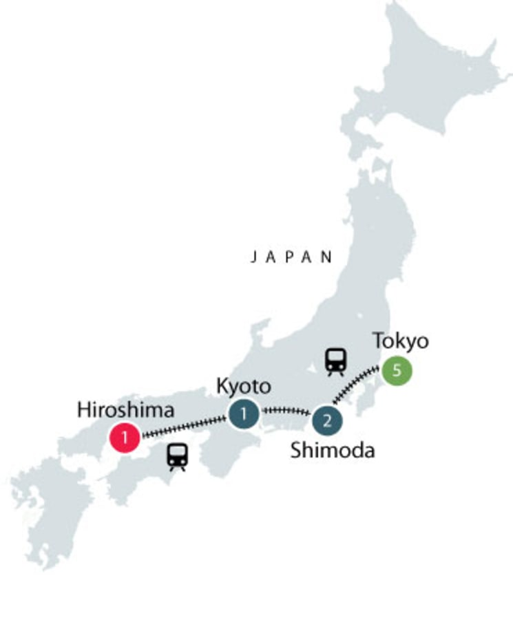 Japan History by Rail - Small Group Tour itinerary