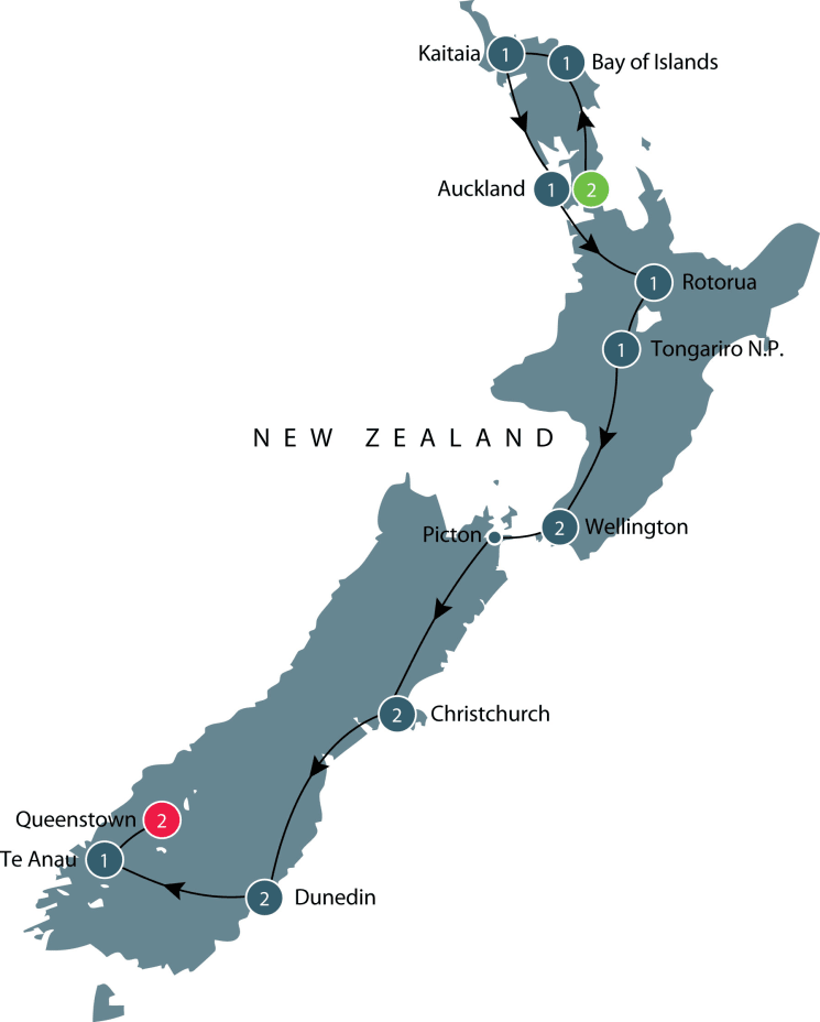 New Zealand: An Odyssey Down Under itinerary