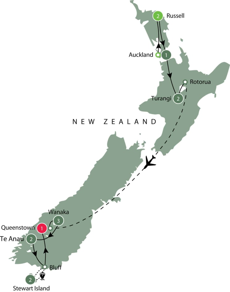 Small group walking tour of New Zealand itinerary