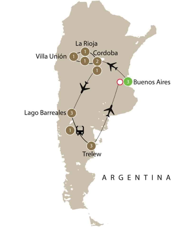 Argentina Dinosaur dig including Titanosaur small group tours itinerary