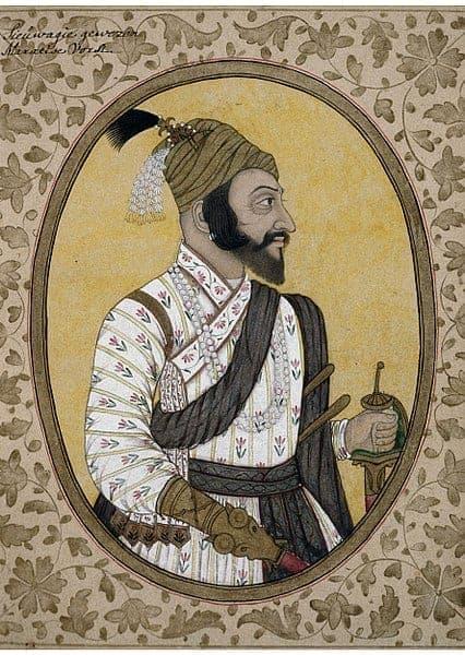 Portrait of Maratha Emperor Shivaji