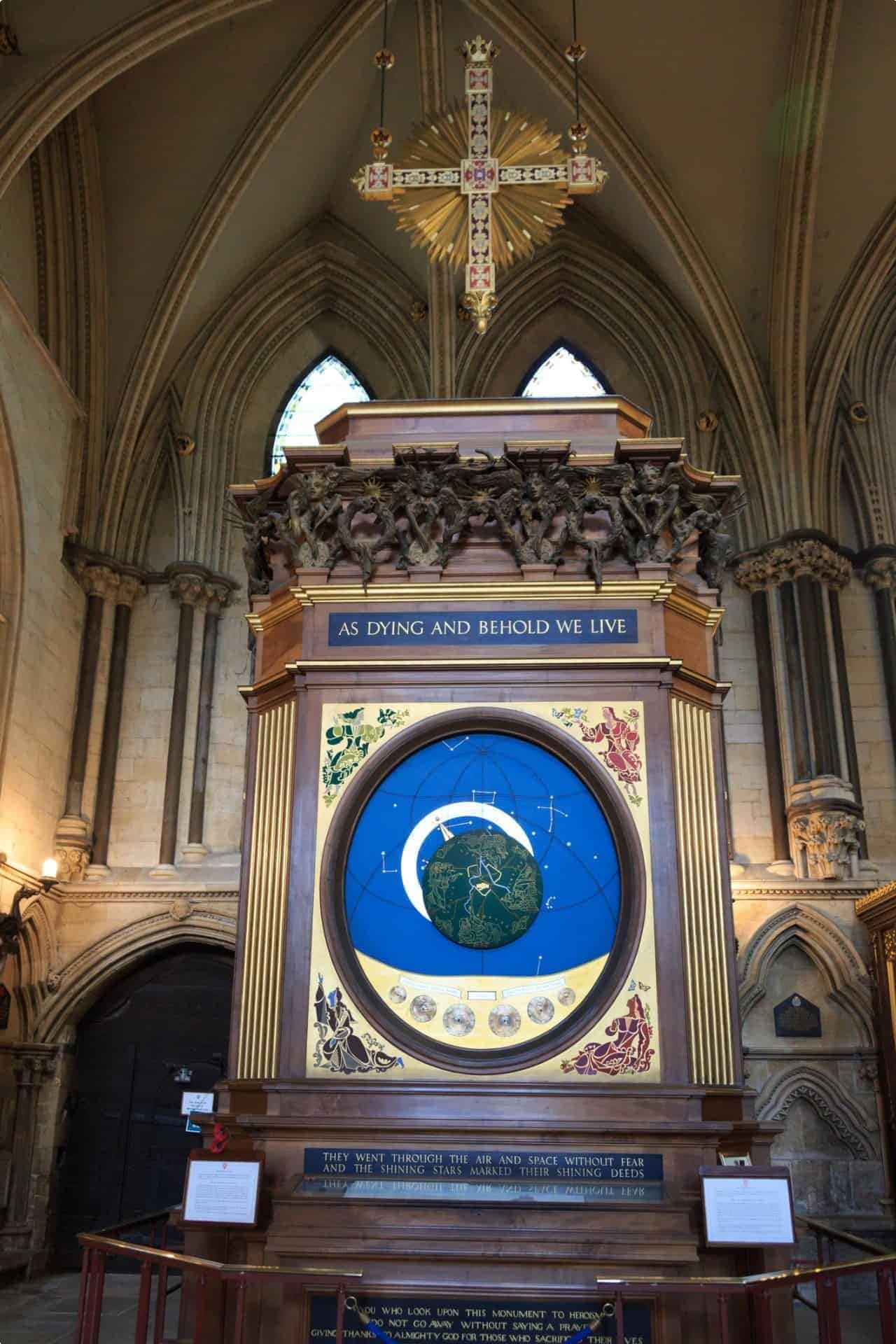 Astronomical clock, York Minster