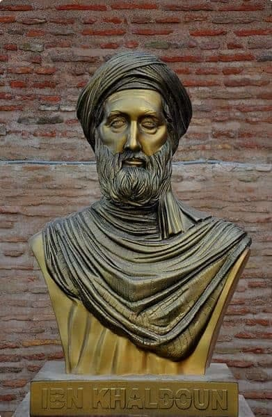 A bust of Ibn Khladoun