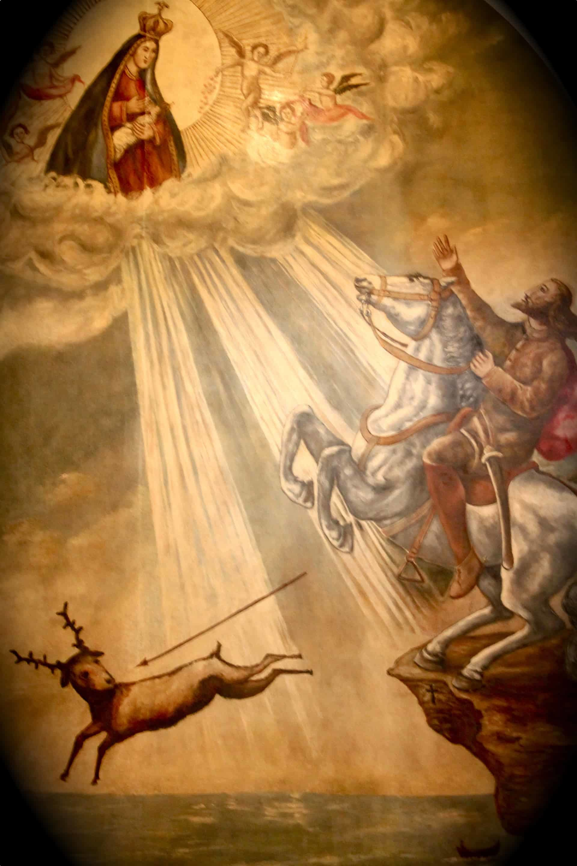 A painting depicting the Legend of Nazare
