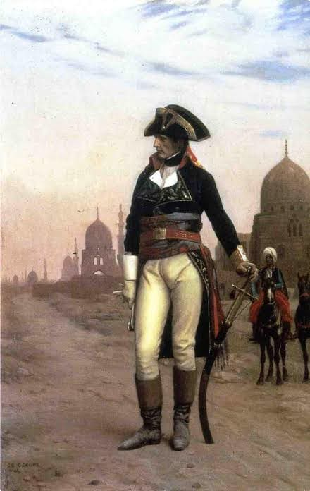 An image of Napoleon in Egypt