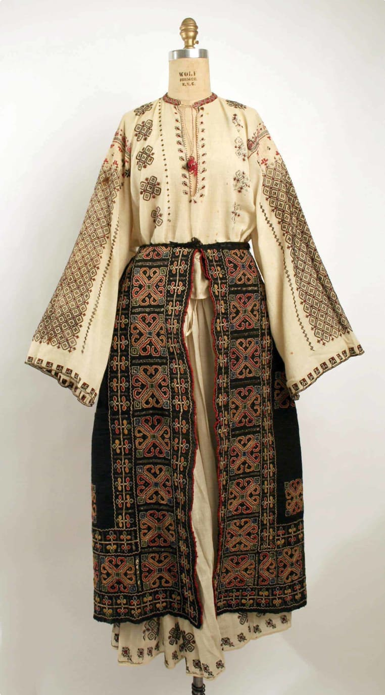 Traditional Romanian costume.